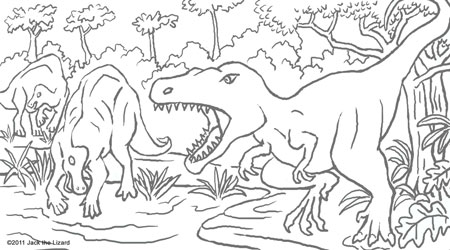 Coloring Pages of Albertosaurus
