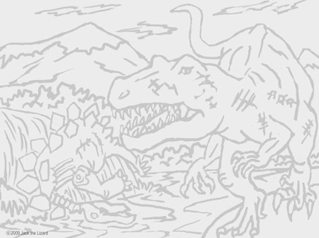 Coloring Pages of Allosaurus