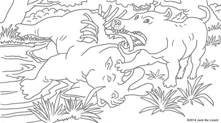 Coloring Pages of Andrewsarchus