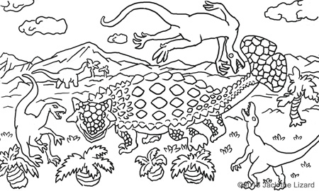 Coloring Pages of Ankylosaurus