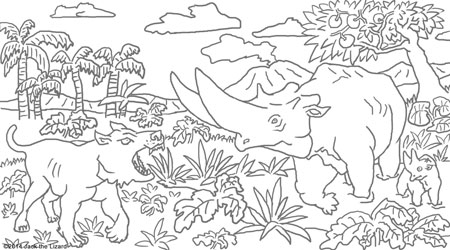 Coloring Pages of Parasaurolophus