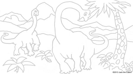 Coloring Pages of Brachiosaurus