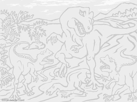 Coloring Pages of Ceratosaurus and Allosaurus