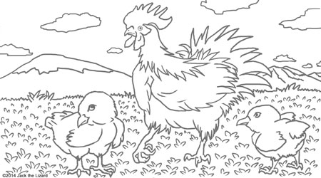 Coloring Pages of Chiken