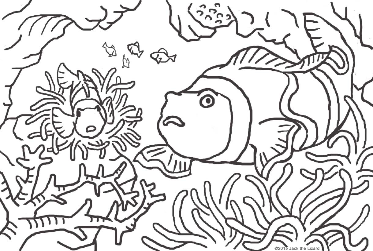 Environmental coloring activities - Coloring Pages Of Pennant Crown Fish