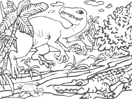 Coloring Pages of Deinonychus
