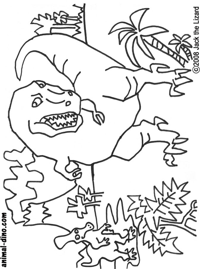 dinosaurs coloring page tyrannosaurus print size jack the lizared wonder world. Black Bedroom Furniture Sets. Home Design Ideas