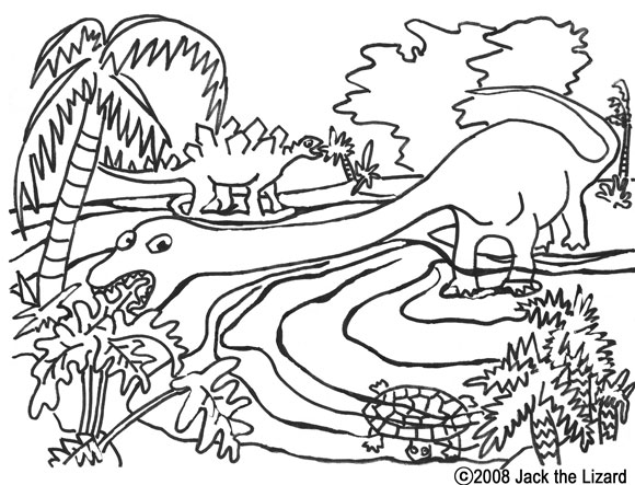 Colouring Book of Apatosaur, Dinosaurs