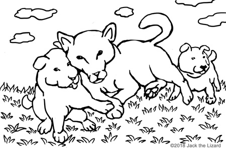 animal coloring pages jack the lizard wonder world Southeast Asia Life coloring pages of dogs