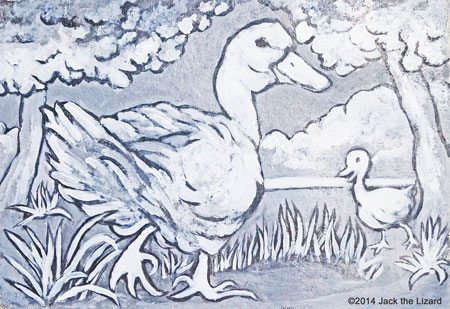 Coloring Pages of Domestic Duck