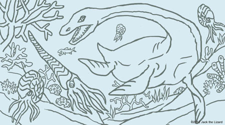 Coloring Pages of Elasmosaurus