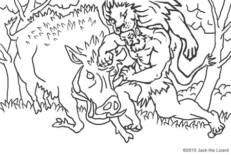 Animals in Legend Coloring Pages  Jack the Lizard Wonder World