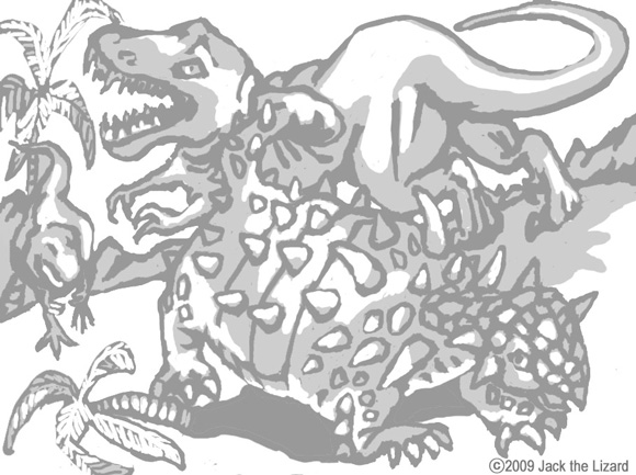 Coloring Pages of Euoplocephalus the Dinosaur