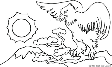 Coloring Pages of Hawk