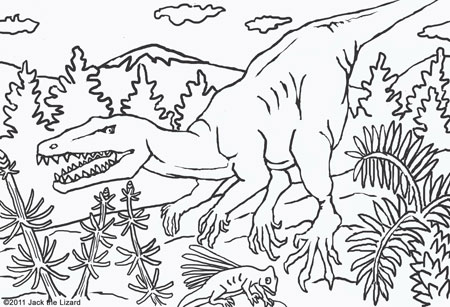Coloring Pages of Herrerasaurus