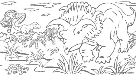 Coloring Pages of Kosmoceratops