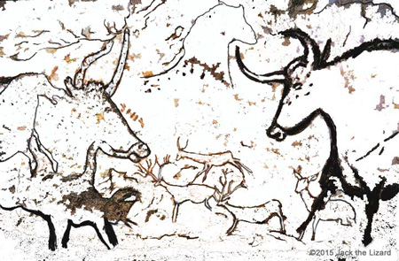 Coloring Pages of Lascaux Cav painting