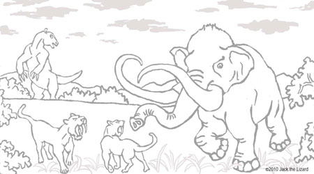 Coloring Pages of Mammoth