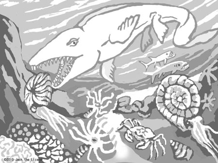 Coloring Pages of Mosasaurus
