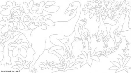 Coloring Pages of Ornithomimus
