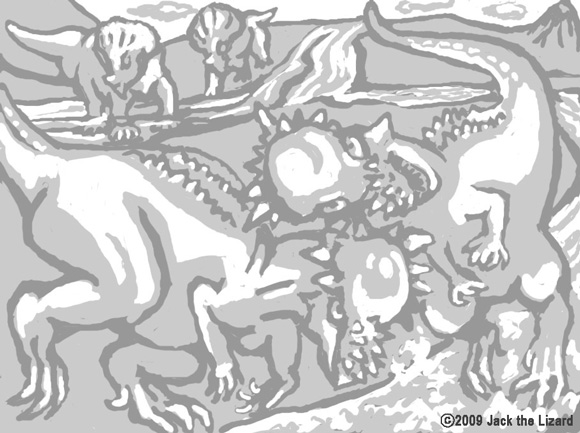 Coloring Pages of Pachycephalosaurus the Dinosaur