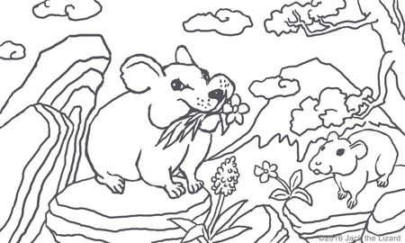 Coloring Pages of Pika