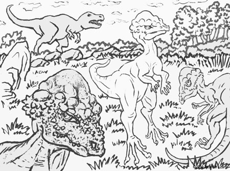 Coloring Pages of Prenocephale