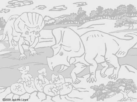 Coloring Pages of Protoceratops