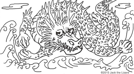 Animals in legend coloring pages jack the lizard wonder for Ryu coloring pages