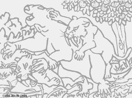Coloring Pages of Smilodon
