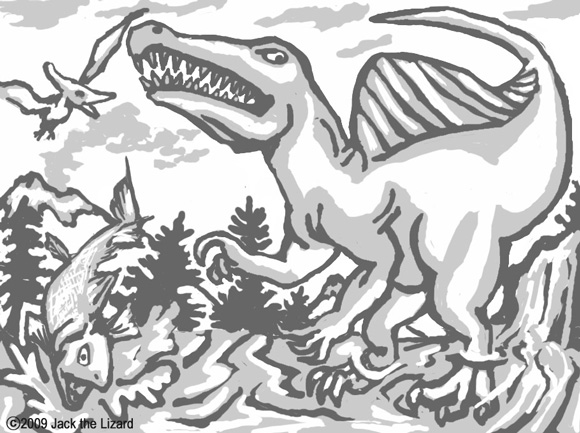 Coloring Pages of Spinosaurus
