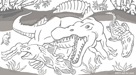 coloring pages of brontornis coloring pages of spinosaurus - Spinosaurus Coloring Pages Printable