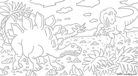 Coloring Pages of Stegosaurus