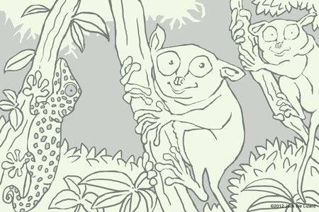 Coloring Pages of Tarsier