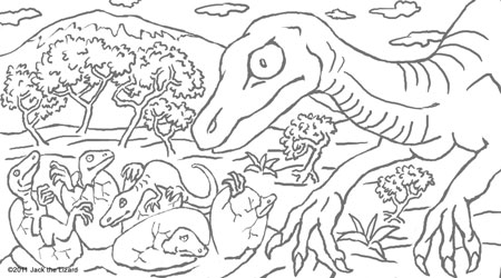 Prehistoric Animal Coloring Pages Jack the Lizard Wonder World