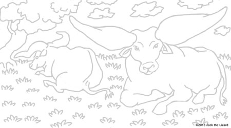 Coloring Pages of Ankole-Watusi