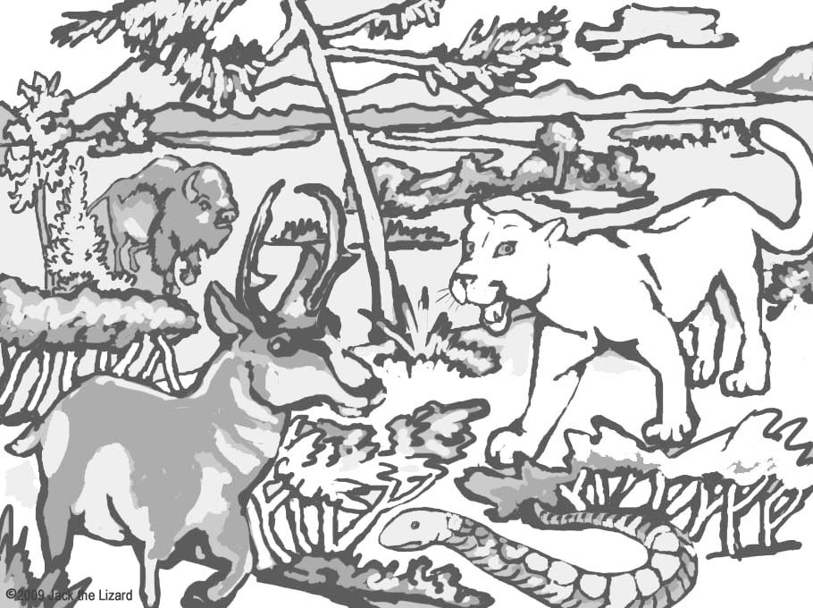 Coloring Pages of Yellowstone National Park
