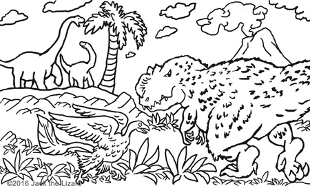 Coloring Pages of Yutyrannus