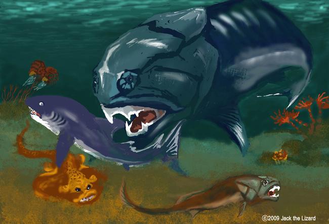 dunkleosteus. The Fish Period - Dunkleosteus