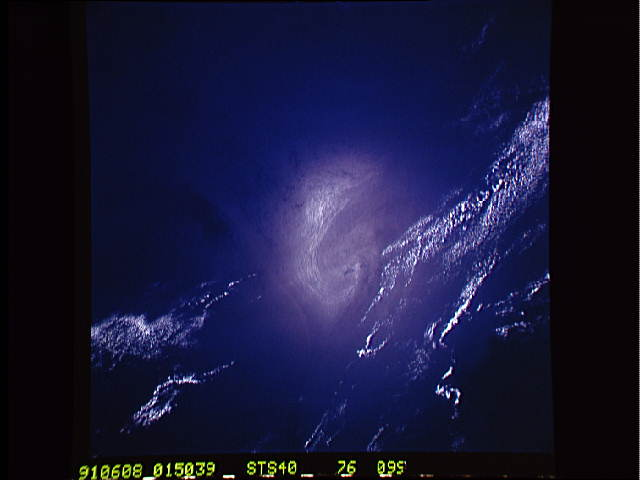 The photo of eddy, taken by astronauts.